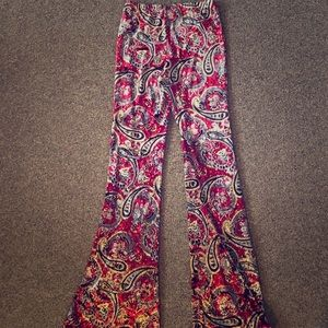 Velvet stretch pants
